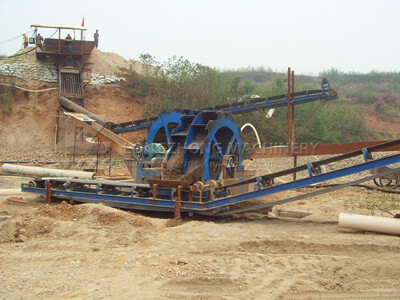 wheel sand washing machine design