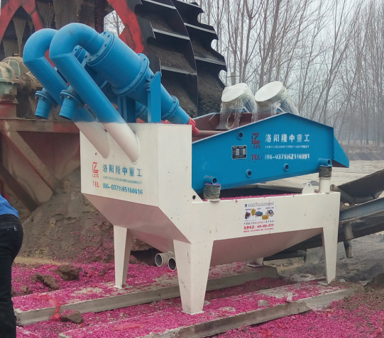 sand recycling machine working site