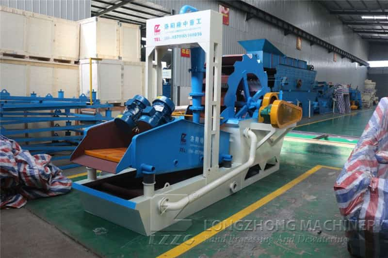 India 50TPH Sand Washing Machine Production Line