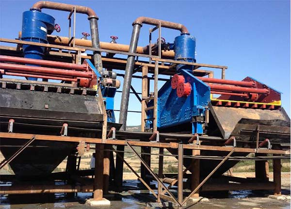 tailings dewatering at site
