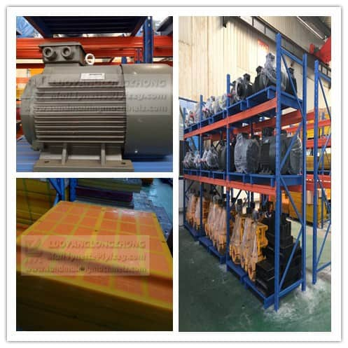 The method to select the accessories of dewatering screen.