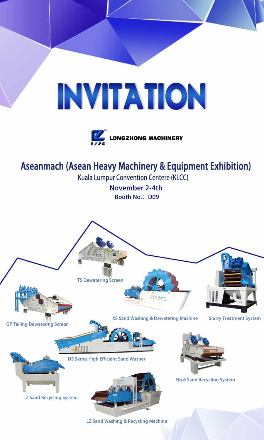 Aseanmach (Asean Heavy Machinery & Equipment Exhibition) will be held tomorrow.
