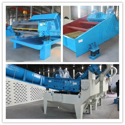 pebble sand dewatering production line