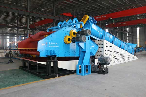spiral sand washing and fines recycling machine