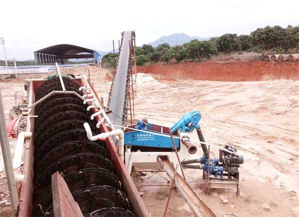China screw sand washing machine