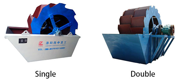 double wheel sand washer