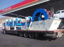 Sand dewatering and recycling machine for river sand