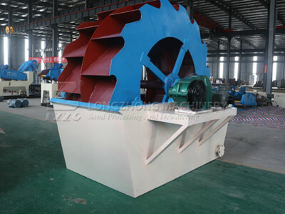 wheel sand washer in the factory