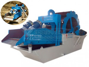 Washed sand dewatering plant