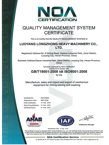 ISO9001 Standard Certification