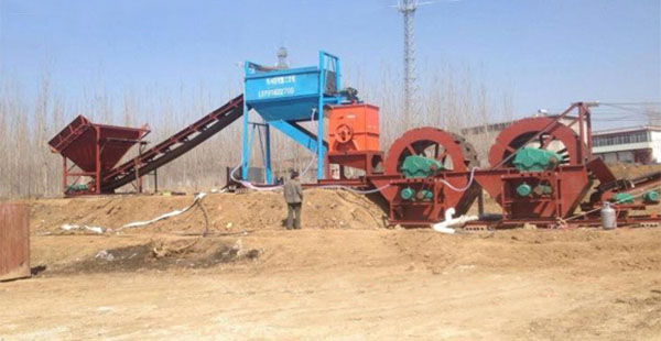 Sand and gravel washing plants