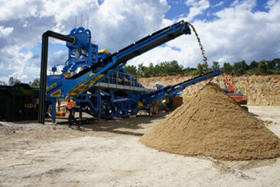 Washed sand stockpile from M2500 in Australia