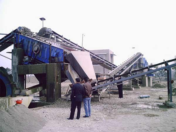 silica sand screening machine