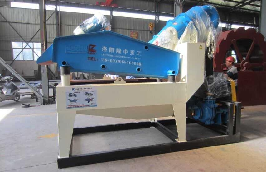 dewatering screen with cyclone machine
