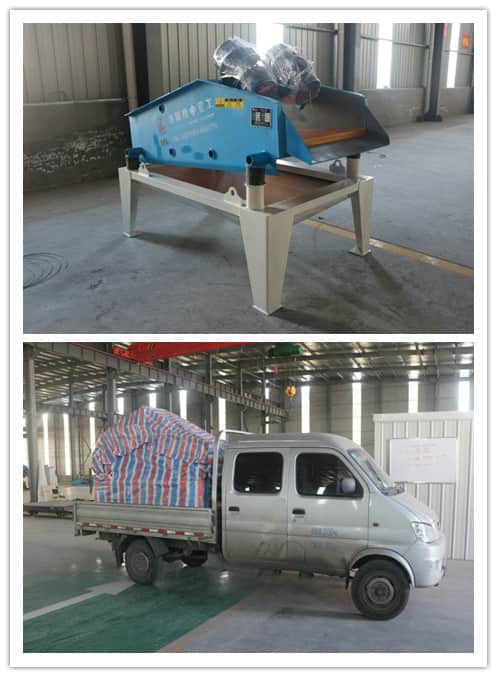 Canadian customers bought a set of dewatering screen device.