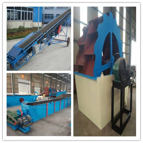 How to configure low - consumption sand washing production line.