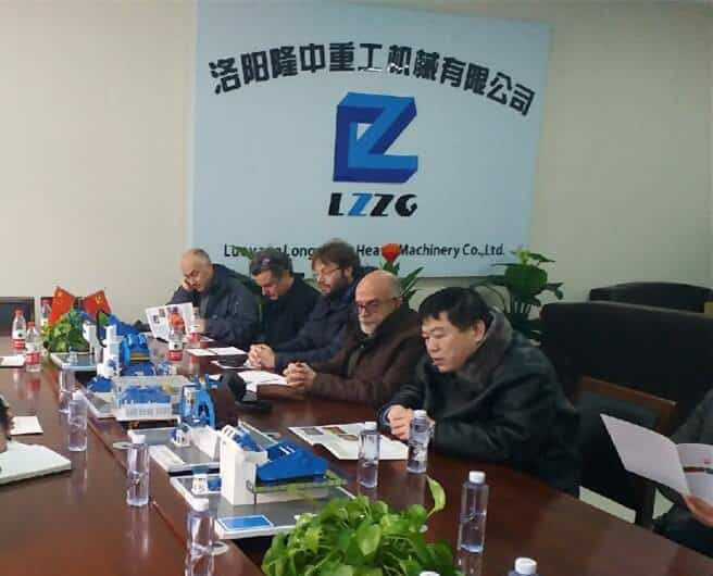 Foreigners visited LZZG sand washing machine manufacture plant.