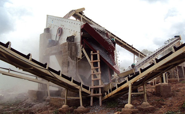 sieving of vibrating screen