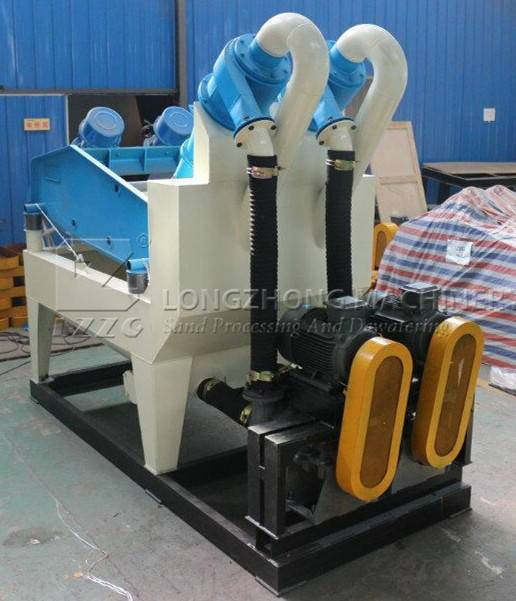 New type-double wheel sand washing machine