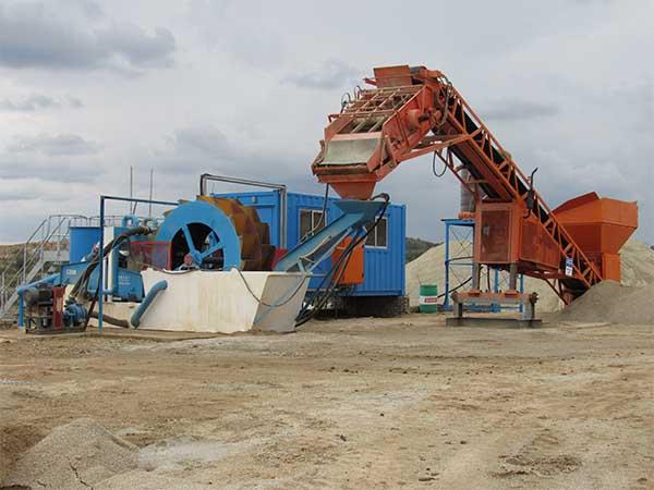 sand washing machine with dewatering screen