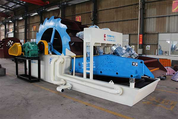 sand washing machine with dewatering screen