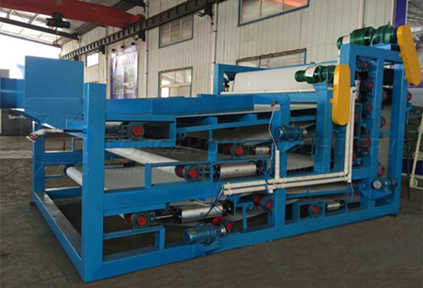 belt sludge dewatering machine