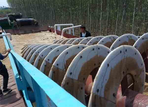 sand washing machine water demand