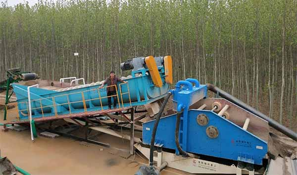Spiral sand washing and recycling machine for sale