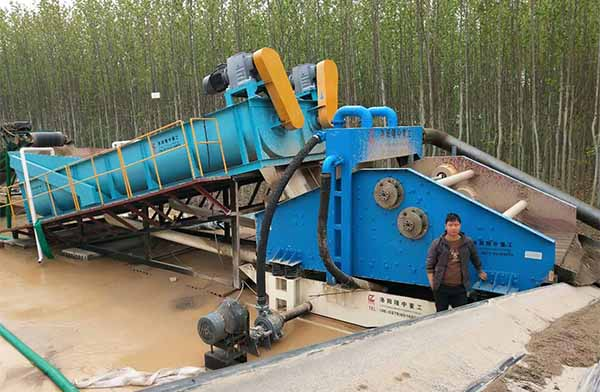 spiral sand washer with recycling