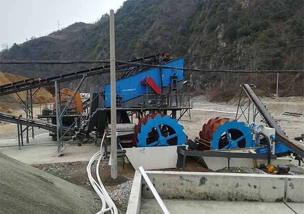 river stone washing plant