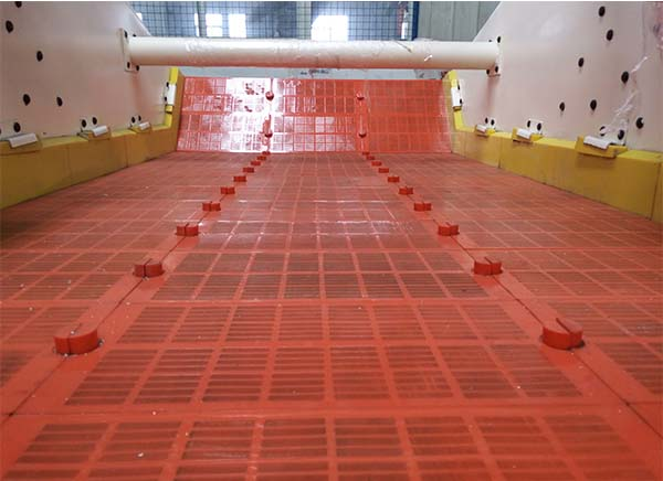 dewatering screen mish size