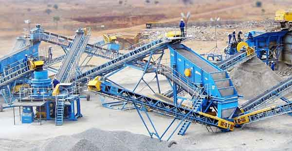 silica sand production