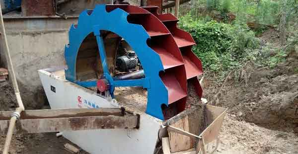 Wheel sand washing equipment